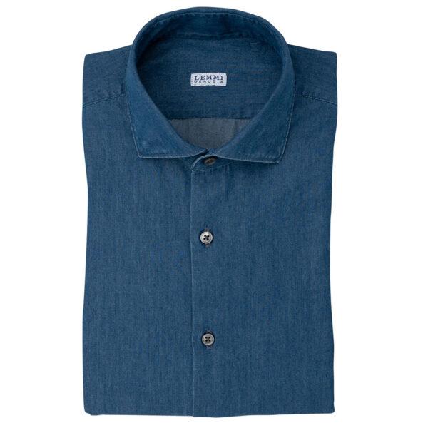 Camicia tessuto 100% cotone Denim