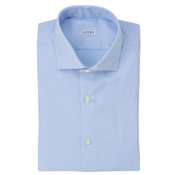 Camicia celeste collo francese