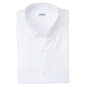 Camicia Oxford Bianco Collo button down