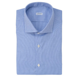 Camicia Oxford celeste scuro
