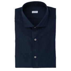 Camicia blu scuro collo francese