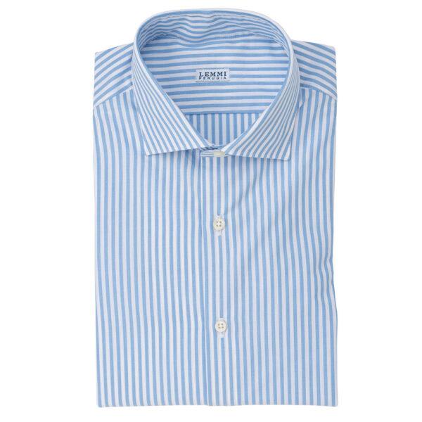 Camicia rigata bianca celeste