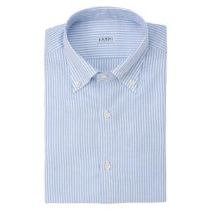Camicia Oxford riga bianca e celeste